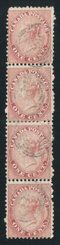 0014CA1709 - Canada #14viii Strip of 4
