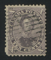0017CA1709 - Canada #17 - Used Double/Kiss Print