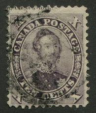 0017CA1708 - Canada #17iv - Used 'String of Pearls'