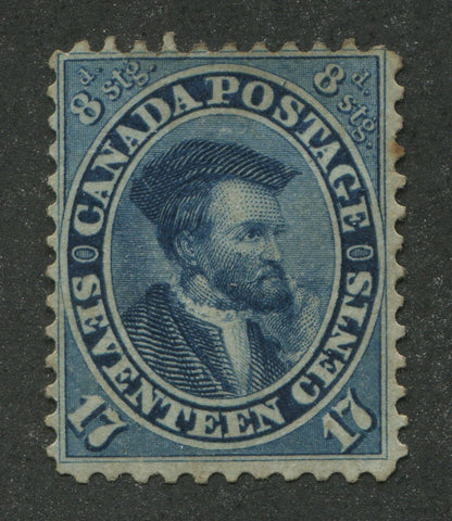 0019CA1708 - Canada #19iv - Mint, Major Re-Entry