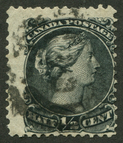0021CA2002 - Canada #21ix - Used Re-Entry, 2-Ring Numeral Cancel '2'