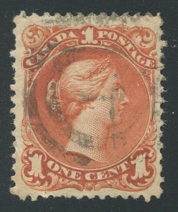 0022CA1710 - Canada #22a - Used, Watermarked Bothwell Paper