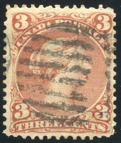 0025CA1710 - Canada #25iv - Used 'Goatee' Variety