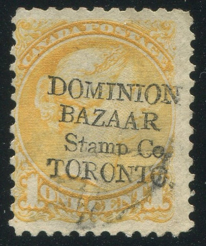 0035CA1904 - Canada #35 - Used 'DOMINION BAZAAR STAMP CO' Overprint
