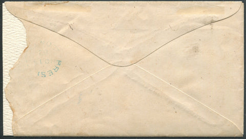 0039CA1710 - Canada #39a - Used, Bisect on Cover (Philatelic)