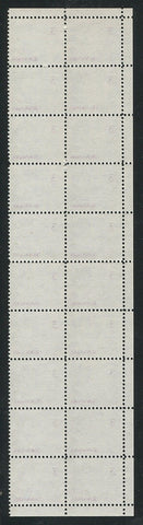 0456CA1708 - Canada #456pxx Block of 20, G2aR Tagging
