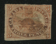 0004CA1709 - Canada #4d, vii - Used Major Re-Entry - Deveney Stamps Ltd. Canadian Stamps