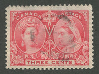 0053CA1708 - Canada #53 - Used Stitch Watermark - UNLISTED