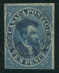 0007CA2002 - Canada #7, 4-Ring Numeral Cancel '37'