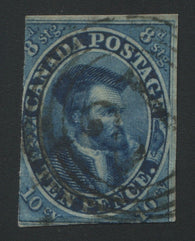 0007CA1709 - Canada #7 - Used Re-Entry - Deveney Stamps Ltd. Canadian Stamps