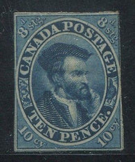 0007CA1708 - Canada #7a - Deveney Stamps Ltd. Canadian Stamps