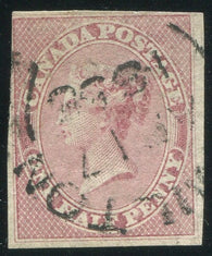 0008CA1905 - Canada #8b - Used Vertically Ribbed Paper