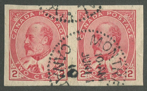 0090CA1905 - Canada #90A Imperf Pair