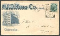 0075CA1903 - #75 on 'J.D. KING CO.' Advertising Cover