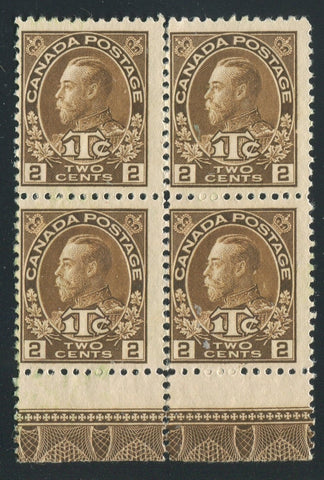 0163CA1710 - Canada MR4 - Mint Lathework Block of 4
