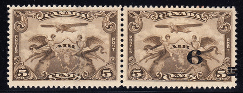 0501CA1708 - Canada #C3d - Mint Pair, One Without Surcharge