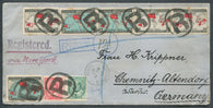 0085CA1908 - #85/86, 89, 90 on Foreign Destination Cover