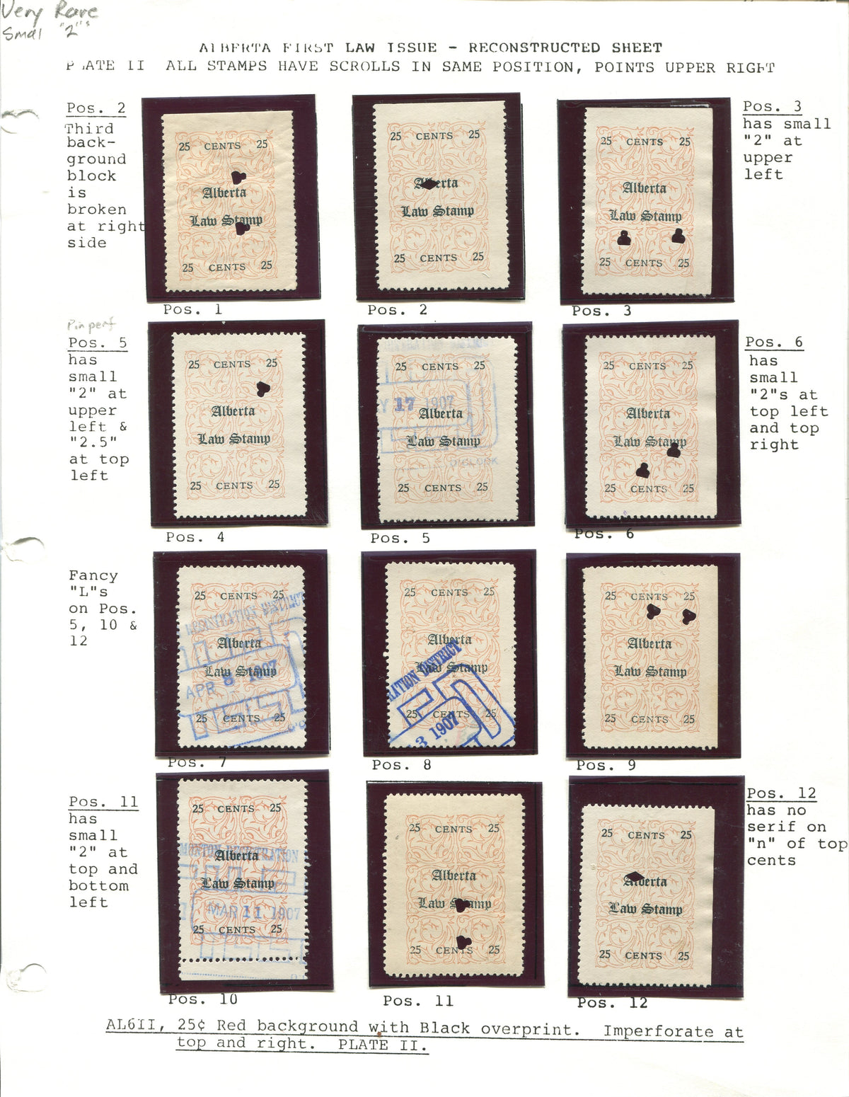 0006AL1709 - AL6 - Used Reconstructed Sheet - Deveney Stamps Ltd. Canadian Stamps