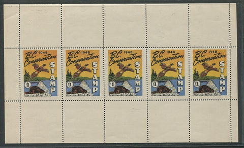 0329BC1708 - BCD3a - Mint Sheet of 5