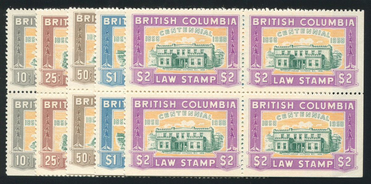 0046BC1709 - BCL46-BCL50 - Mint Block of 4 Set