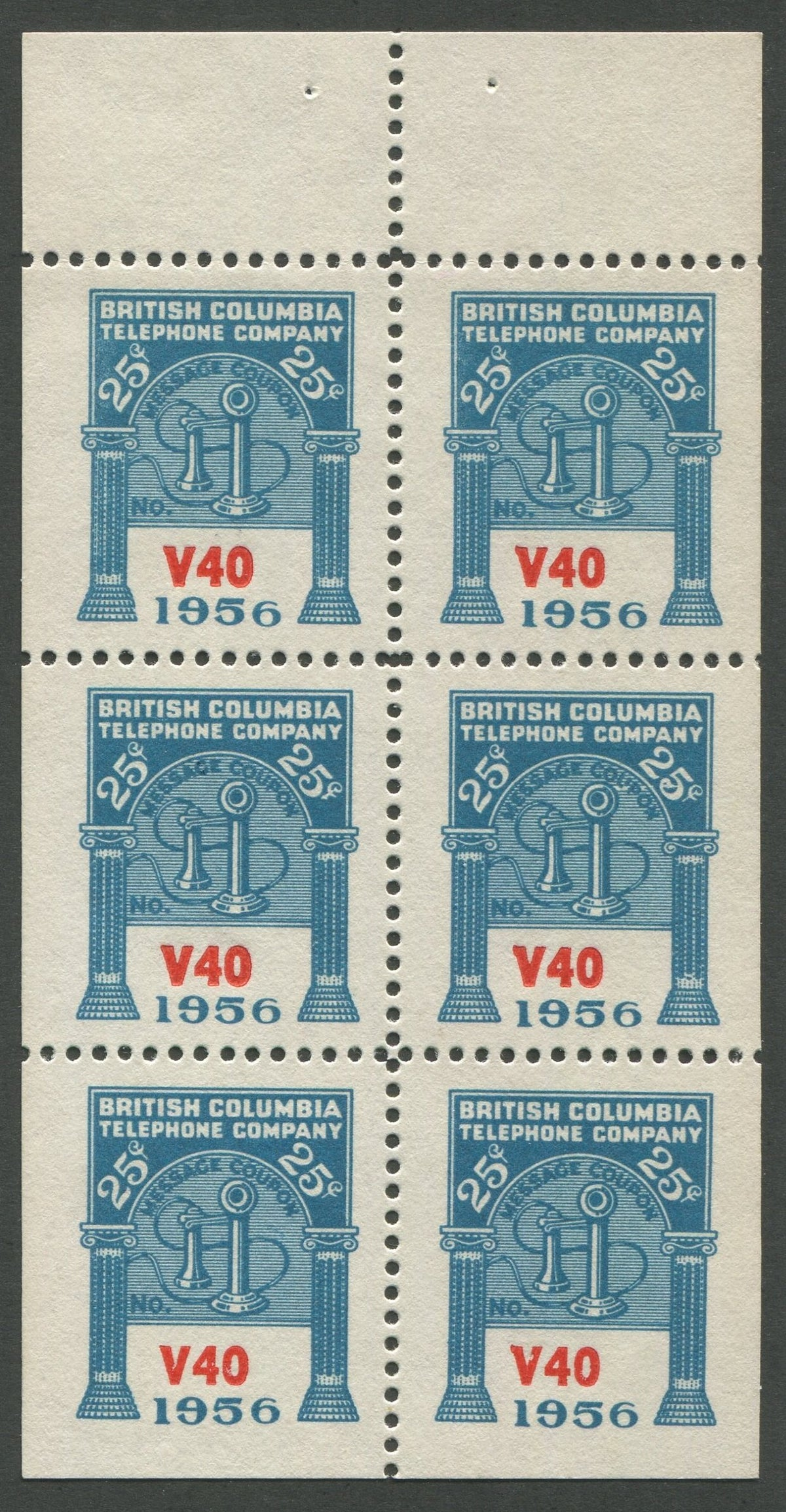 0277BC1708 - BCT179 - Mint Booklet Pane, Watermarked