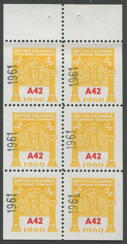 0291BC1708 - BCT193 - Mint Booklet Pane, Watermarked