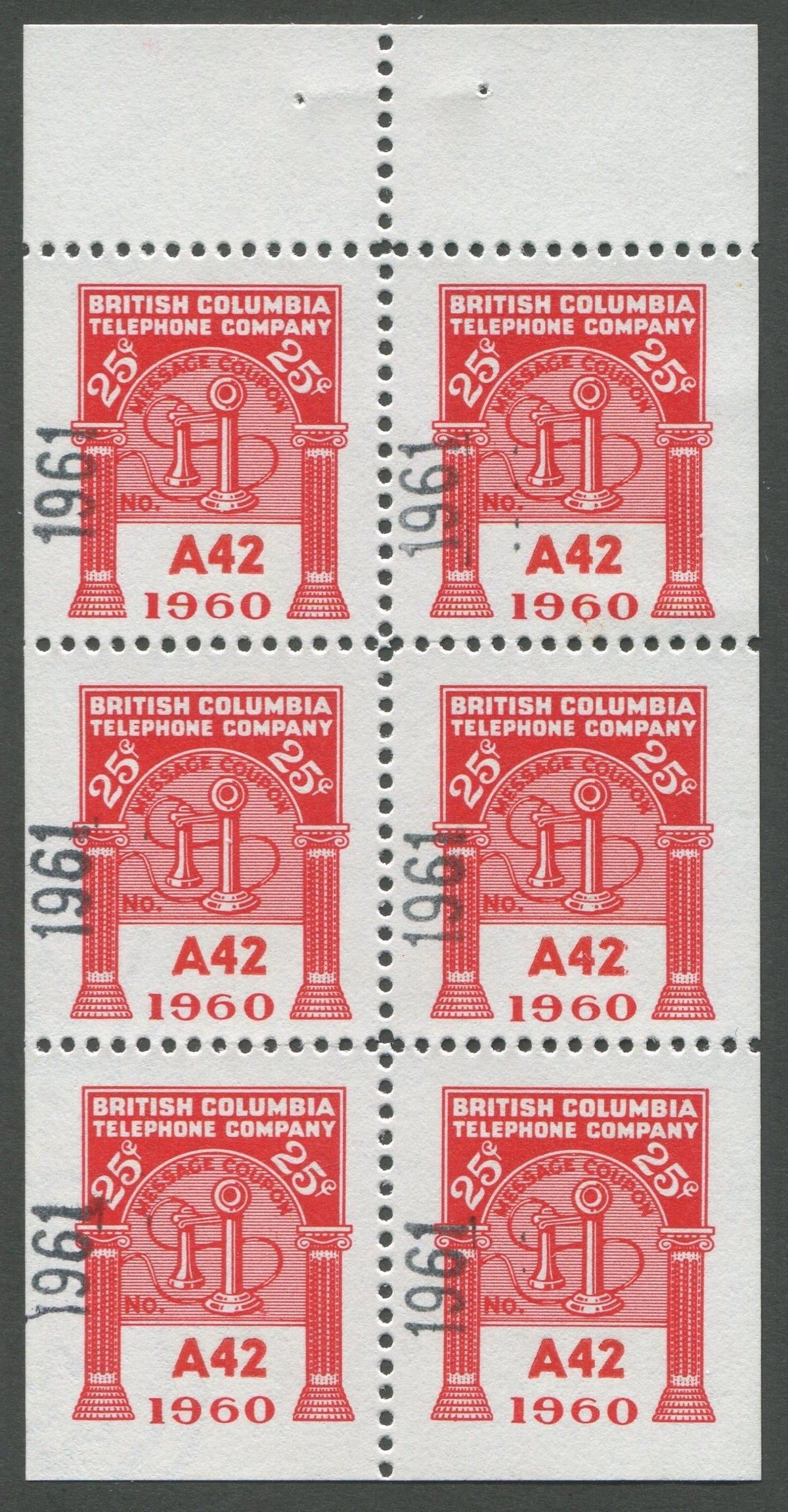 0292BC1708 - BCT194 - Mint Booklet Pane, Watermarked