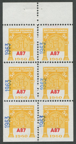 0297BC1708 - BCT199 - Mint Booklet Pane, Watermarked