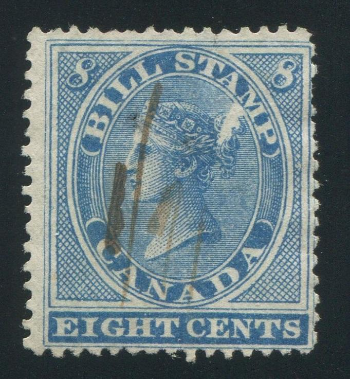 0008FB1709 - FB8a - Used 'Feather in Bun' Variety - Deveney Stamps Ltd. Canadian Stamps