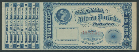 0150FT1708 - 15 Pounds Tobacco - Mint Label, 1883