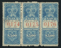 0006FG1709 - FG6 - Used Stip of 3 - Deveney Stamps Ltd. Canadian Stamps