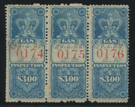 0006FG1708 - FG3 - Used Strip of 3 - Deveney Stamps Ltd. Canadian Stamps