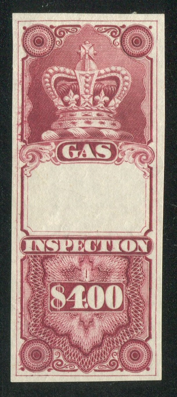 0007FG1709 - Gas Inspection $4 Trial Colour Proof - Deveney Stamps Ltd. Canadian Stamps