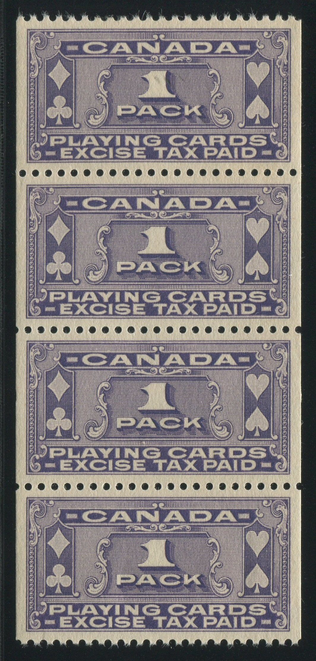 0003PC1708 - FPC1a - Mint Coil Strip of 4 - Deveney Stamps Ltd. Canadian Stamps