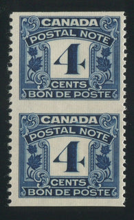 0006PS1708 - FPS6a - Mint Imperf Pair - Deveney Stamps Ltd. Canadian Stamps