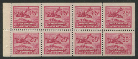 0006WS1700 - FWS6a - Mint Booklet Pane - Deveney Stamps Ltd. Canadian Stamps