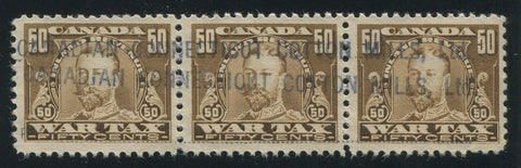 0025WT1707 - FWT16 - Used Strip of 3 - Unlisted Precancel