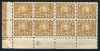 0017WT1710 - FWT8 - Mint Lathework Plate Block of 8