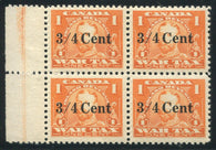 0031FX1710 - FX31 - Mint Lathework Block of 4