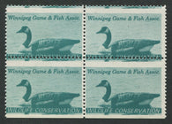 0259MW1708 - MW1 - Mint Block of 4