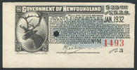 0001NF1911 - Newfoundland Savings Bond