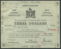 0001NF1911 - Newfoundland War Savings Certificate, Set of 4
