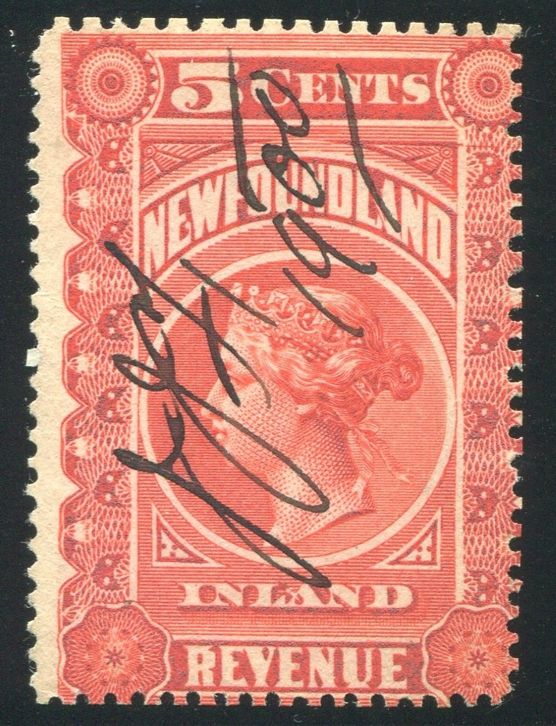 0001NF1708 - NFR1 - Used - Deveney Stamps Ltd. Canadian Stamps