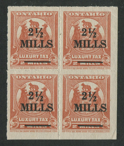 0131ON1707 - OLT1 - Mint Block of 4