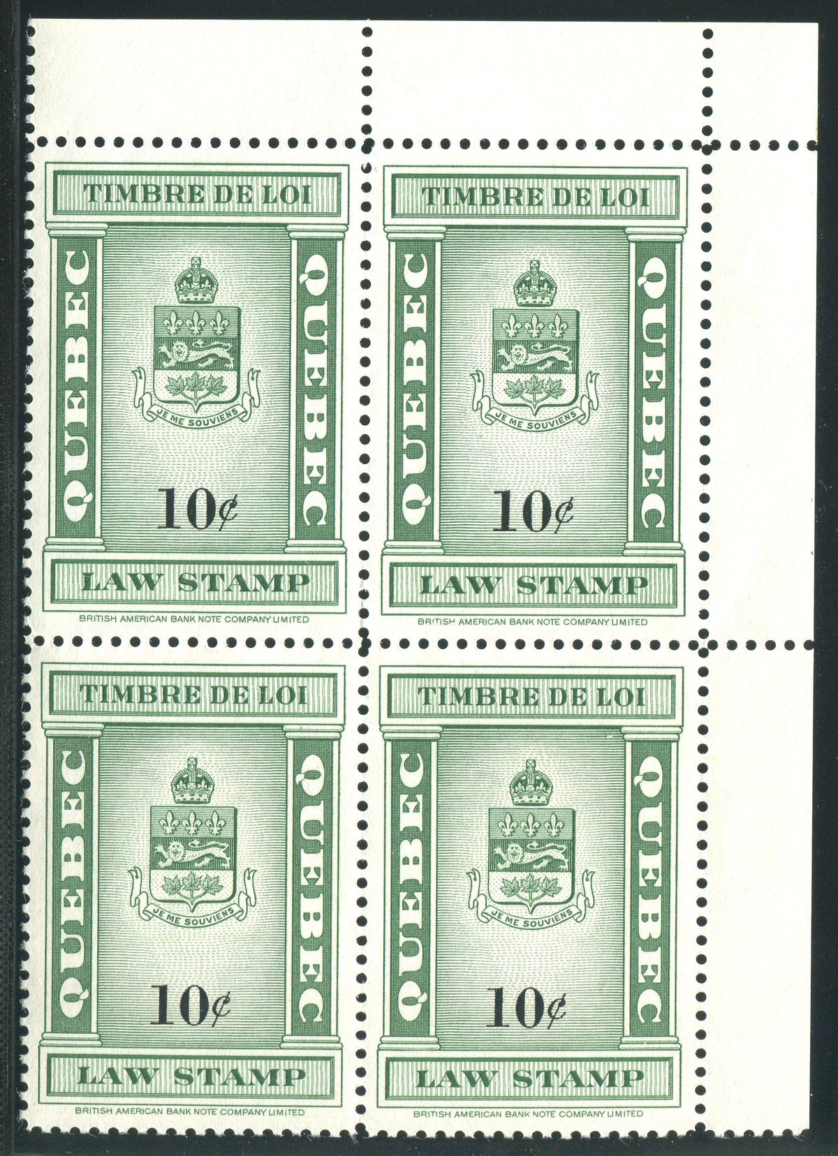0109QL1708 - QL109 - Mint Block of 4
