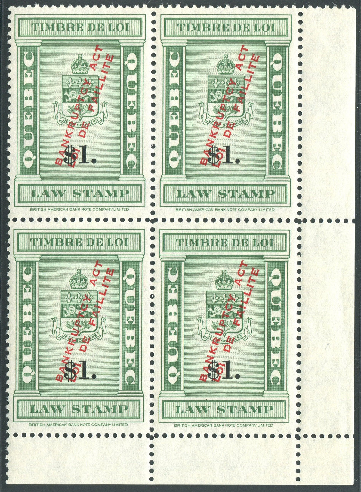 0119QL1708 - QL119 - Mint Block of 4