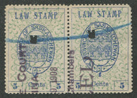 0001SL1707 - SL1 - Used Pair - 'Broken Buckle' - Deveney Stamps Ltd. Canadian Stamps