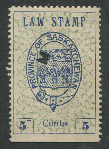 0001SL1707 - SL1 - Used - '5-' Variety - UNLISTED - Deveney Stamps Ltd. Canadian Stamps