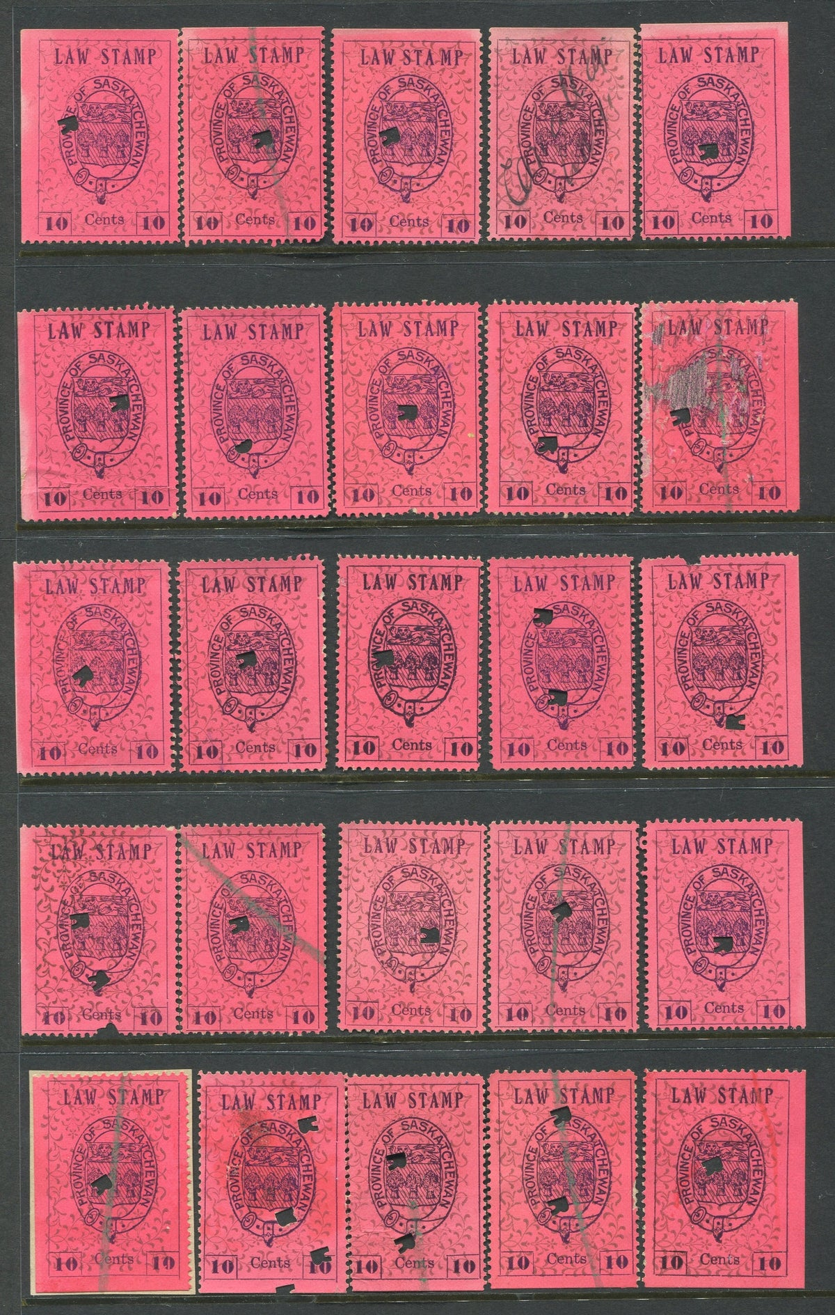 0002SL1709 - SL2 - Used Reconstructed Sheet - Deveney Stamps Ltd. Canadian Stamps