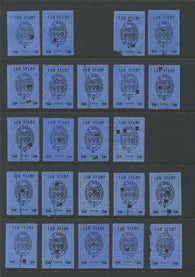 0003SL1709 - SL3 - Used Partially Reconstructed Sheet - Deveney Stamps Ltd. Canadian Stamps